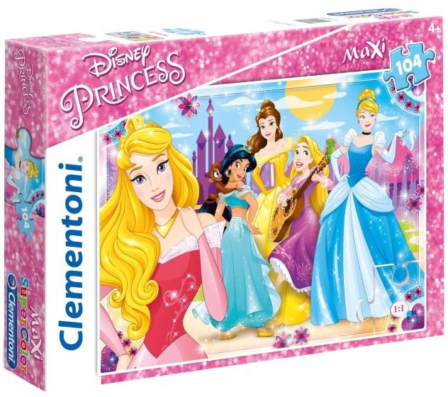 Clementoni maxi supercolor legpuzzel Disney Princess 104 stukjes