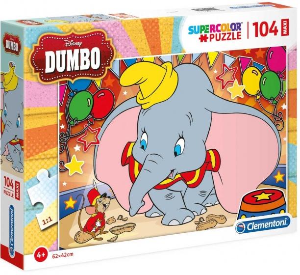 Clementoni maxi supercolor legpuzzel Dumbo 104 stukjes
