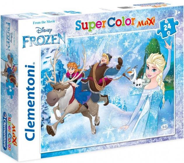 Clementoni maxi supercolor legpuzzel Frozen 24 stukjes