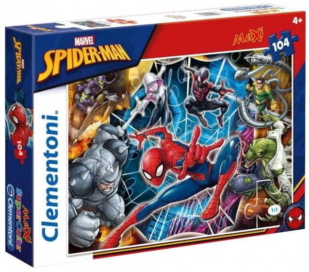 Clementoni maxi supercolor legpuzzel Spider man 104 stukjes