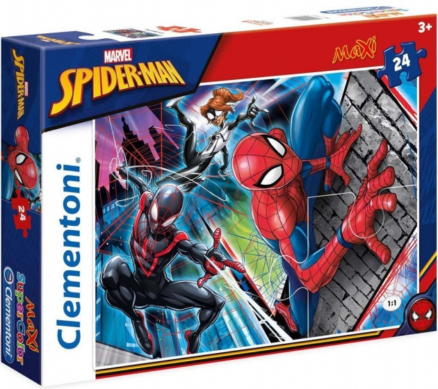 Clementoni maxi supercolor legpuzzel Spider Man 24 stukjes