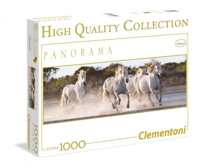 Clementoni Panorama puzzel Paarden 1000 stukjes