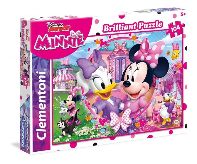 Clementoni puzzel Brilliant Puzzle Minnie 104 stukjes