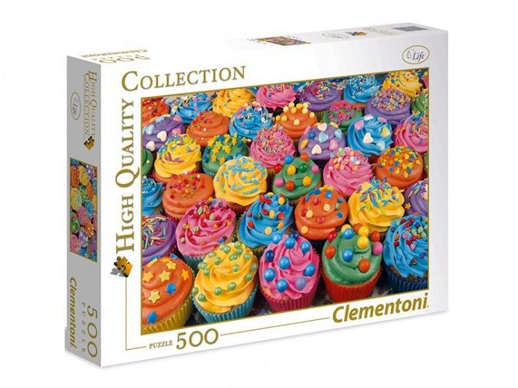 Clementoni puzzel Colorful Cupcakes 500 stukjes