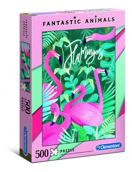 Clementoni puzzel Fantastic Animals 500 stukjes flamingo