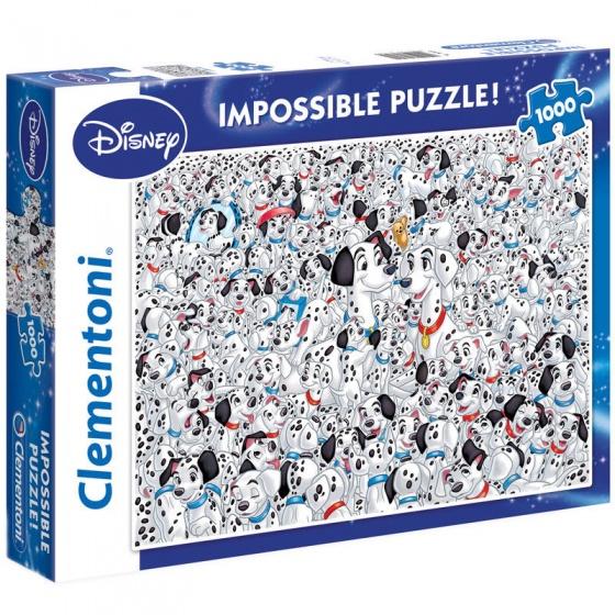 Clementoni impossible puzzel Disney 101 Dalmatiërs 1000 stukjes