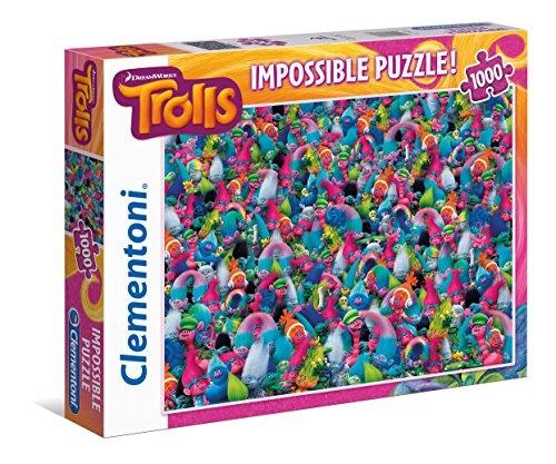 Clementoni Puzzel Impossible Trolls 1000 stukjes