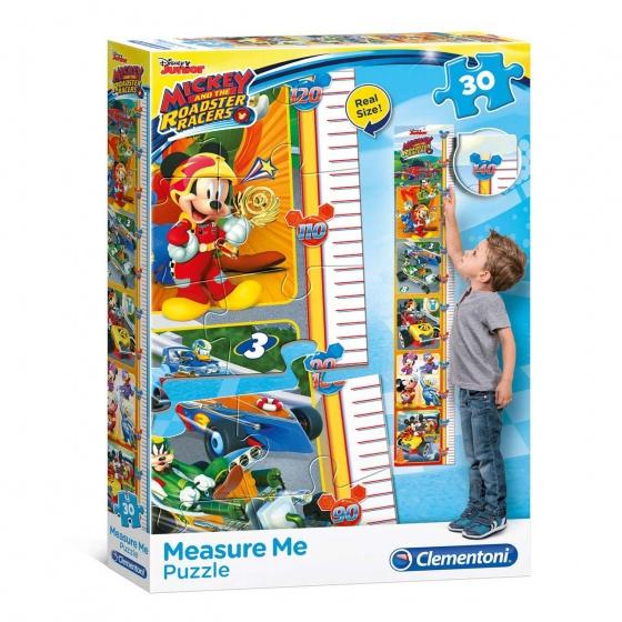 Clementoni puzzel meetlat Mickey Roadster Racers 30 stukjes