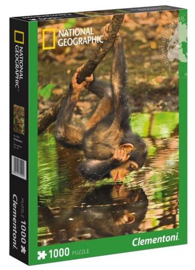 Clementoni Puzzel National Geographic chimpanzee 1000 delig