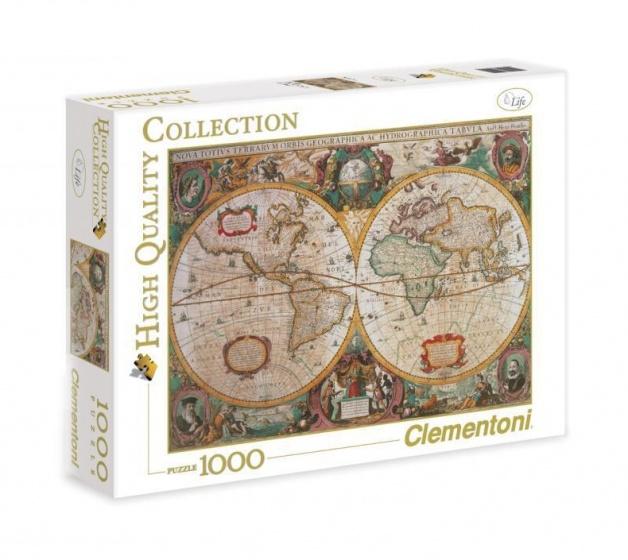 Clementoni puzzel Old Map 1000 stukjes