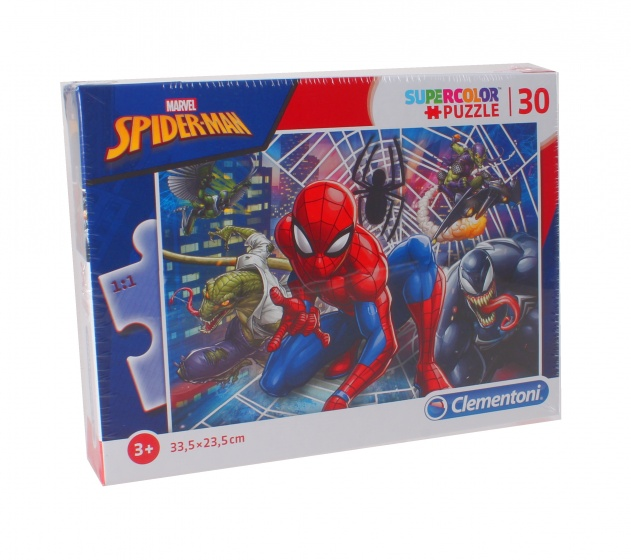 Clementoni puzzel SuperColor Puzzle Spider man 30 stukjes