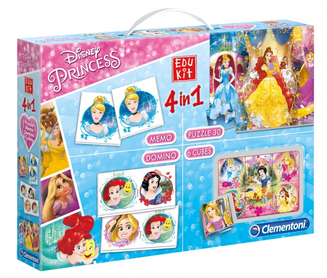 Clementoni spelbox Disney Princess 4 in 1