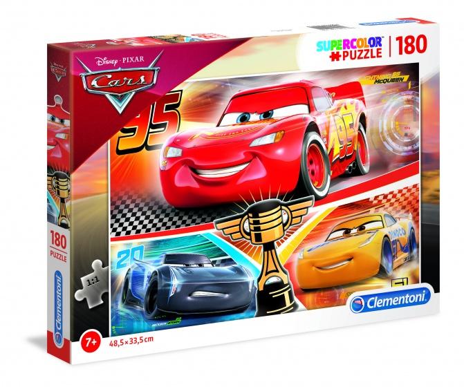 Clementoni supercolor Cars legpuzzel 180 stukjes