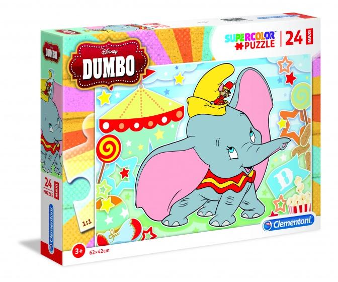 Clementoni supercolor Dumbo legpuzzel 24 stukjes
