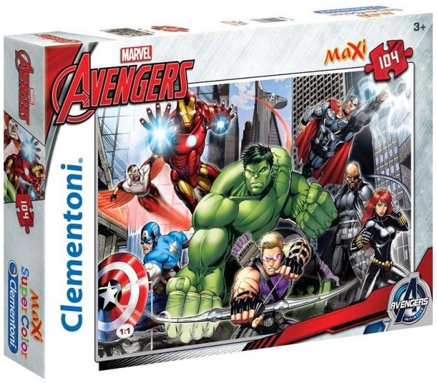 Clementoni supercolor maxi legpuzzel Avengers 104 stukjes