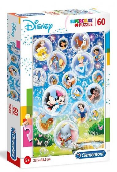 Clementoni supercolor legpuzzel Disneyfiguren 60 stukjes