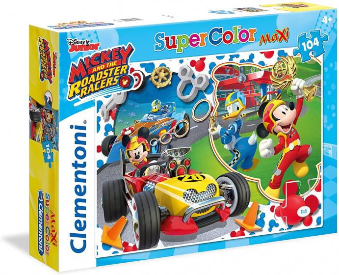 Clementoni supercolor legpuzzel Mickey Roadster 104 stukjes