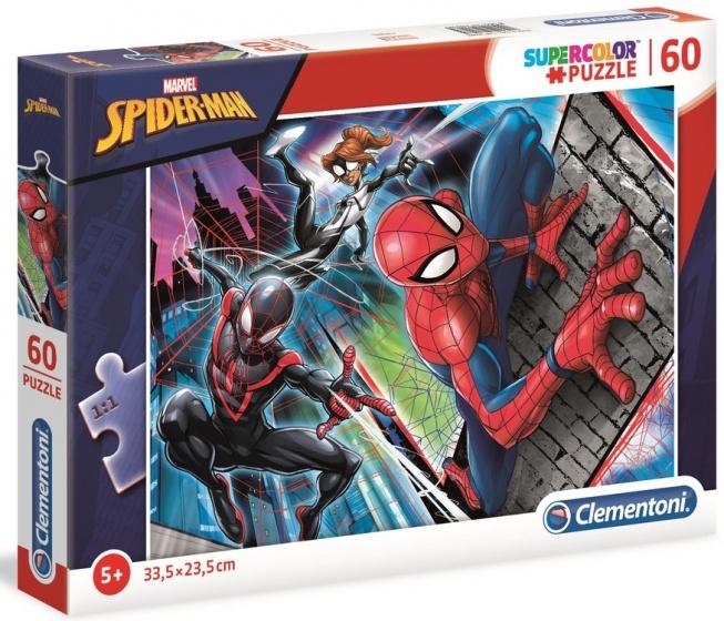 Clementoni supercolor legpuzzel Spider Man 60 stukjes
