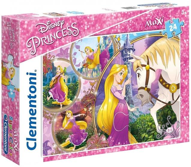 Clementoni supercolor maxi legpuzzel Disney Princess 24 stukjes