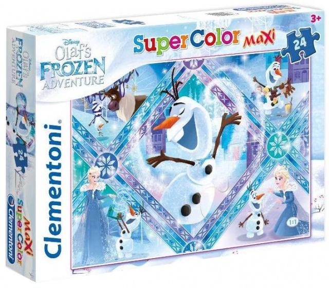 Clementoni supercolor maxi legpuzzel Frozen 24 stukjes