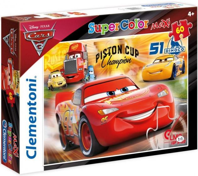Clementoni supercolor maxi puzzel Cars 2 60 stukjes (26424)