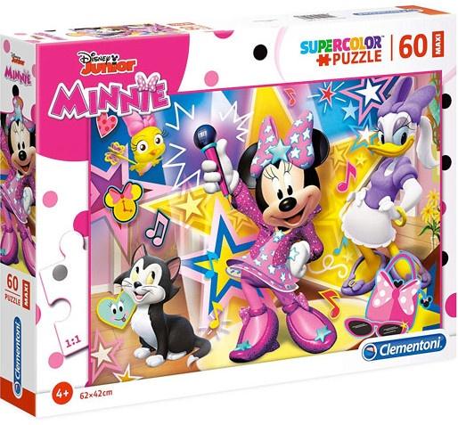 Clementoni supercolor maxi puzzel Minnie Mouse 60 stukjes