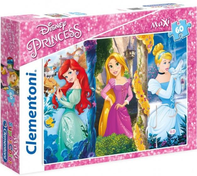 Clementoni supercolor maxi puzzel Princess 60 stukjes (26416)