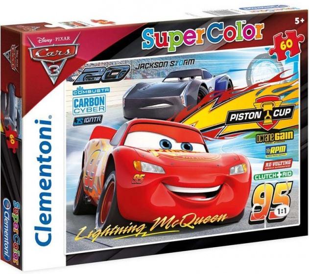 Clementoni supercolor puzzel Cars 2 60 stukjes