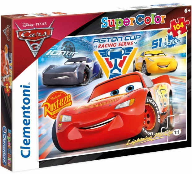 Clementoni supercolor puzzel Cars 3 104 stukjes (27072)