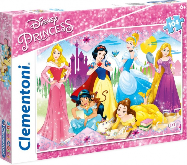 Clementoni supercolor puzzel Disney Princess 104 stukjes (27086)