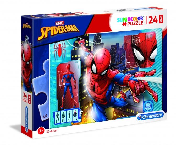 Clementoni supercolor Spider Man legpuzzel 24 stukjes