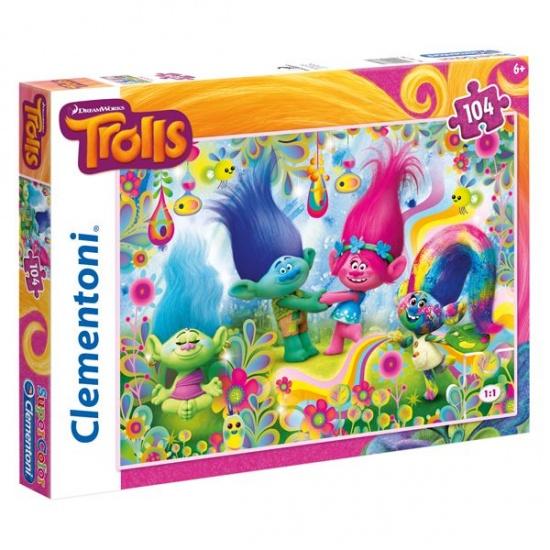 Clementoni Trolls legpuzzel 104 delig