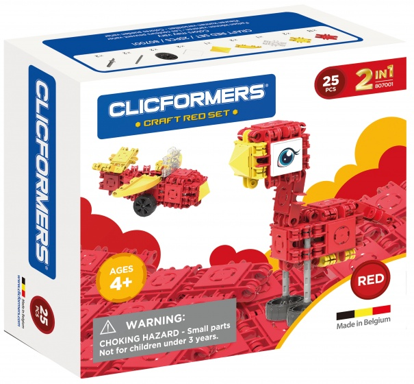 Clicformers Craft Red-set 2-in-1 (807001) 25-delig