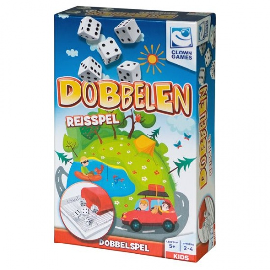 Clown Games dobbelen reisspel 7 delig
