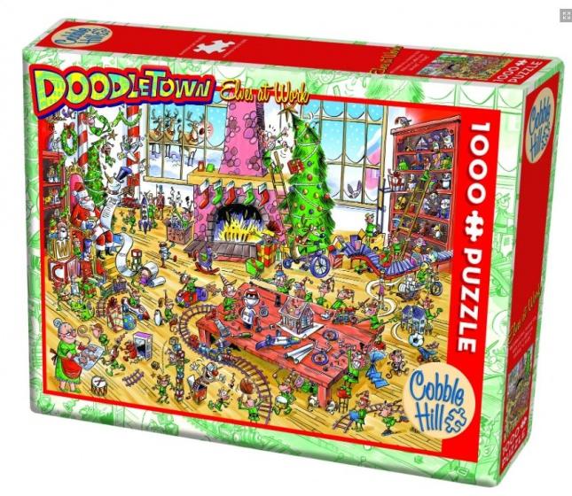 Cobble Hill legpuzzel Doodletown Elves at Work 1000 stukjes
