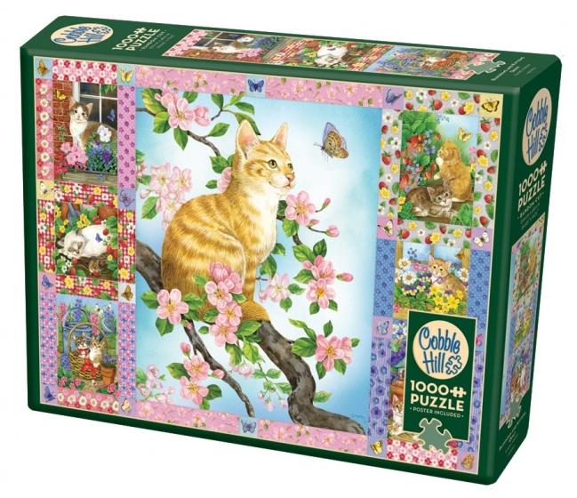 Cobble Hill legpuzzel Blossoms & Kittens 1000 stukjes
