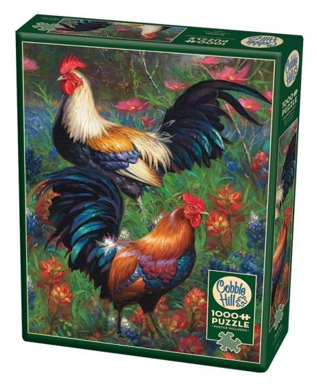 Cobble Hill Legpuzzel Roosters 1000 stukjes