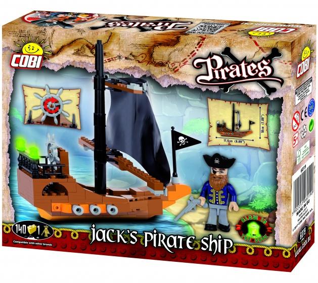 Cobi Pirates bouwset Jack's pirate ship 141 delig (6019)