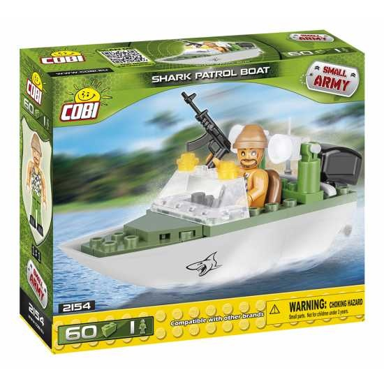Cobi Small Army Shark Patrol Boat bouwset 60 delig 2154