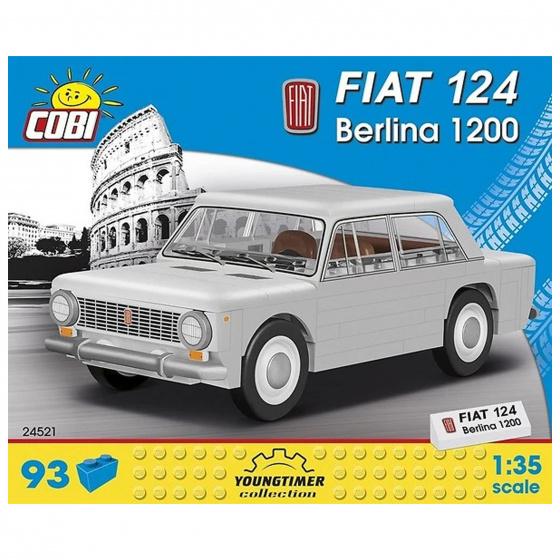 Cobi bouwpakket Fiat 124 Berline 1200 jongens grijs 93 delig