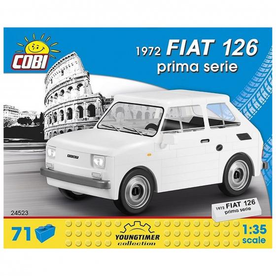 Cobi bouwpakket Fiat 126 Prima Serie jongens wit 71 delig