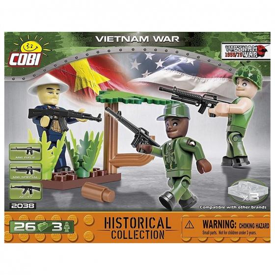 Cobi bouwpakket Vietnam War 3 Soldaten jongens 26 delig