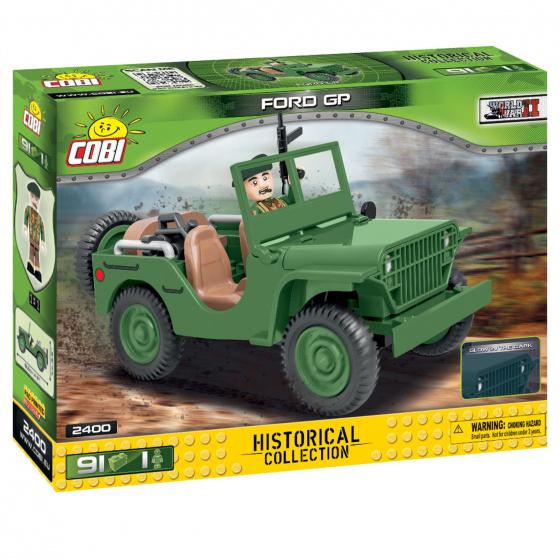 Cobi bouwpakket Vietnam War Ford GP jongens groen 91 delig