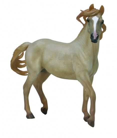 Collecta Paarden: Mustang Hengst Palomino Deluxe 1:12
