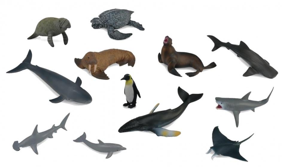 Collecta Zeedieren set mini 12 stuks 7 1 1 cm