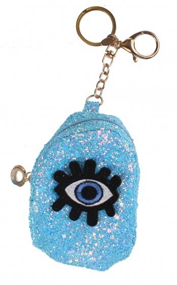 Create It! sleutelhanger tasje 9,5 cm blauw