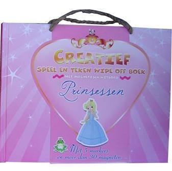 Creatief Speel en Teken Wipe Off Boek Princess