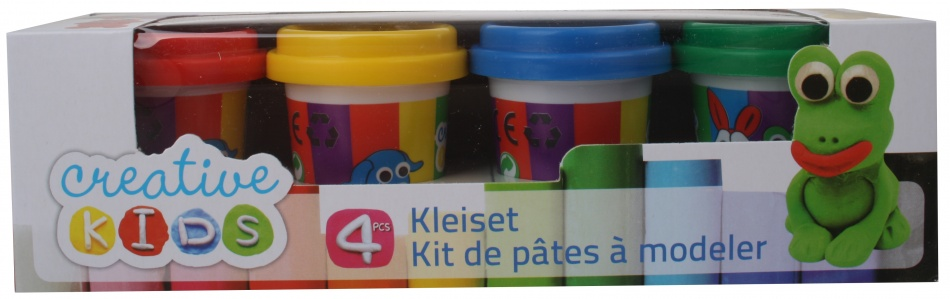 Creative Kids Klei Set Basis 4 delig 55 gram