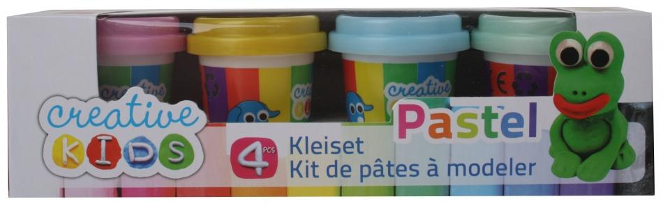 Creative Kids Klei Set Pastel 4 delig 55 gram