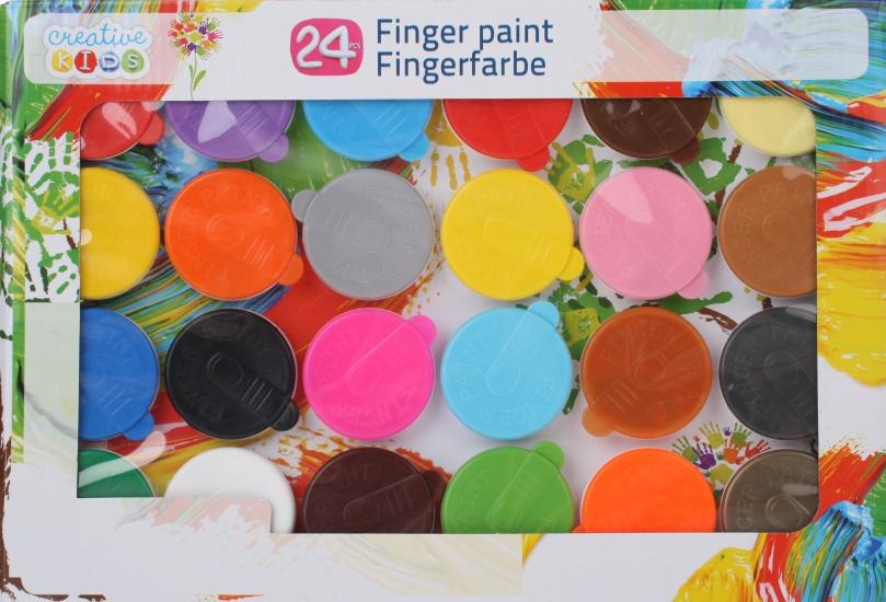 Creative Kids vingerverf set 24 kleuren
